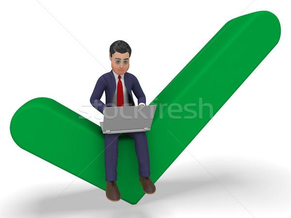 Geslaagd zakenman world wide web website zakenman Stockfoto © stuartmiles