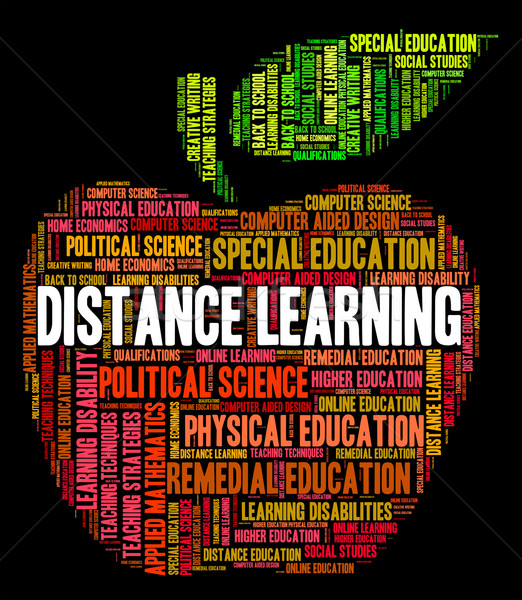 Distancia aprendizaje palabras correspondencia tren Foto stock © stuartmiles