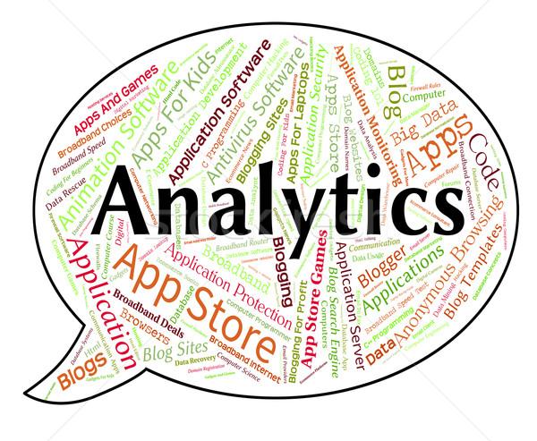 Сток-фото: аналитика · слово · информации · интернет · веб