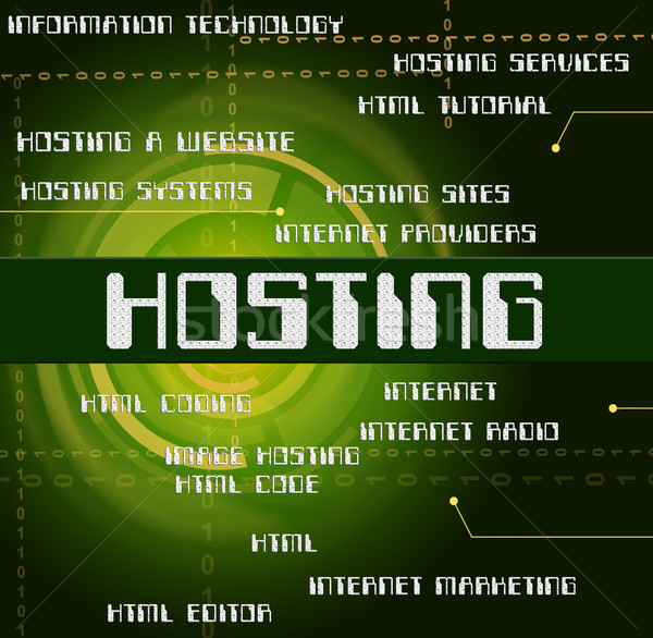 Hosting woord online webserver tonen web Stockfoto © stuartmiles