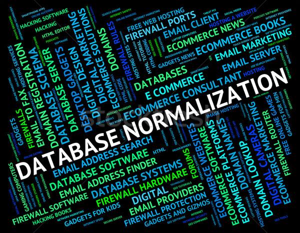 Base de datos palabras significado informática estándar texto Foto stock © stuartmiles