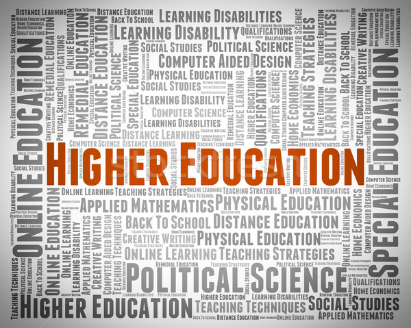 Higher Education Shows Educated Learning And Studying Stock photo © stuartmiles