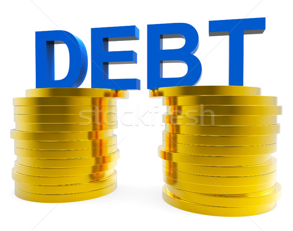 Big Debt Indicates Financial Obligation And Currency Stock photo © stuartmiles