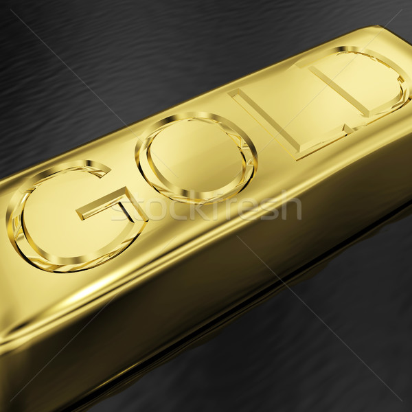 Gold Bar As Symbol For Wealth Or Treasure Stock photo © stuartmiles