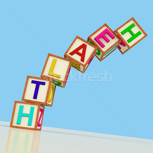 Blocks Spelling Health Falling Over As Symbol for Healthcare Or  Stock photo © stuartmiles