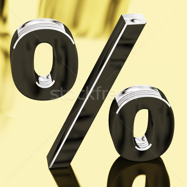 Silver Percentage Sign Representing Finance And Interest Stock photo © stuartmiles