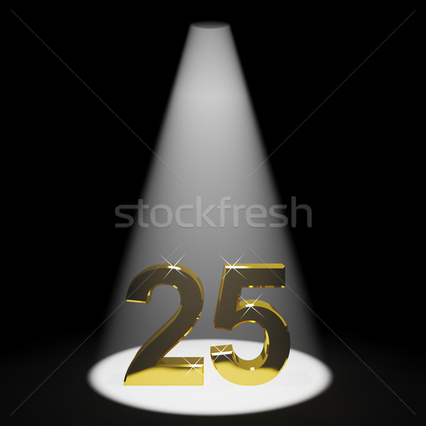 Gold 25th 3d Number Representing Anniversary Or Birthday Stock photo © stuartmiles