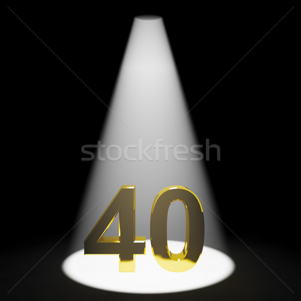 Gold 40 Or Forty 3d Number Closeup Representing Anniversary Or B Stock photo © stuartmiles