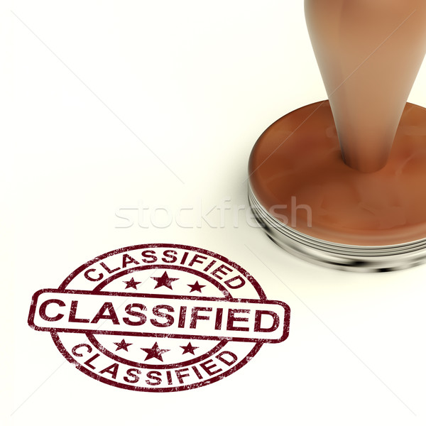 Stock photo: Classified Stamp Showing Secret Private Correspondence
