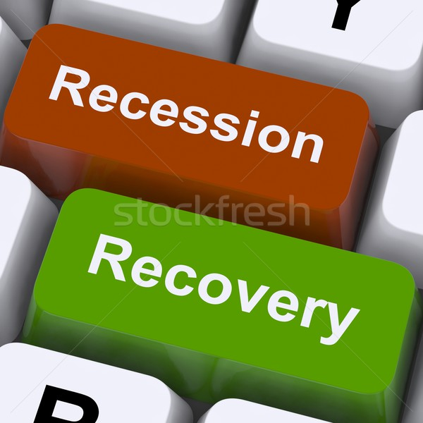 Recession And Recovery Keys Show Upturn Or Downturn Stock photo © stuartmiles