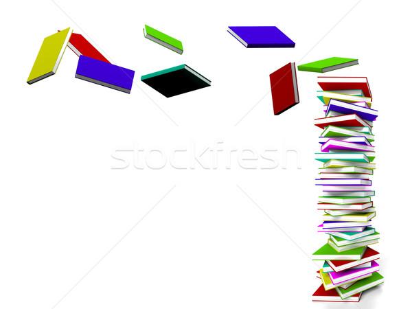 Stockfoto: Boeken · vliegen · leren · onderwijs · studie