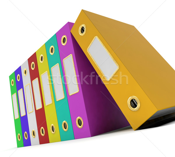 Row Of Colorful Files To Get The Office Organized Stock photo © stuartmiles