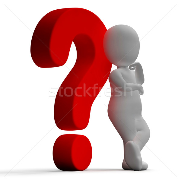 Question Marks And Man Showing Confusion Or Unsure Stock photo © stuartmiles
