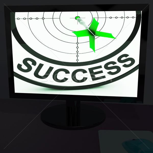 Succes monitor vooruitgang geslaagd voltooiing Stockfoto © stuartmiles