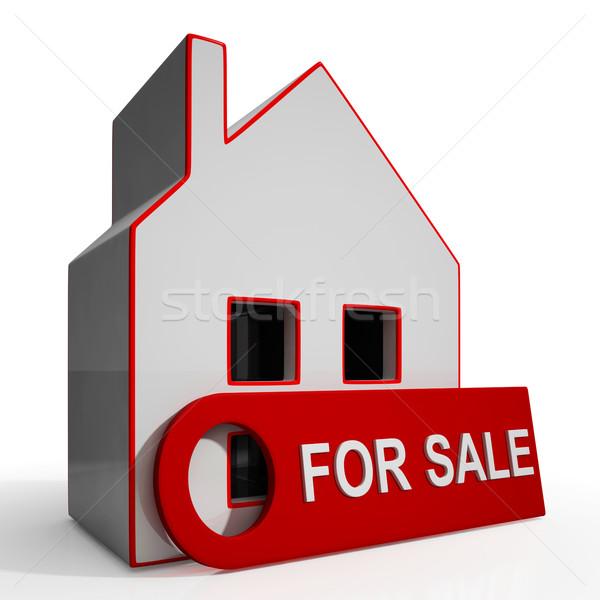 Venda assinar propriedade casa Foto stock © stuartmiles