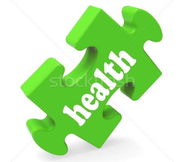 Egészség puzzle egészséges orvosi jólét mutat Stock fotó © stuartmiles