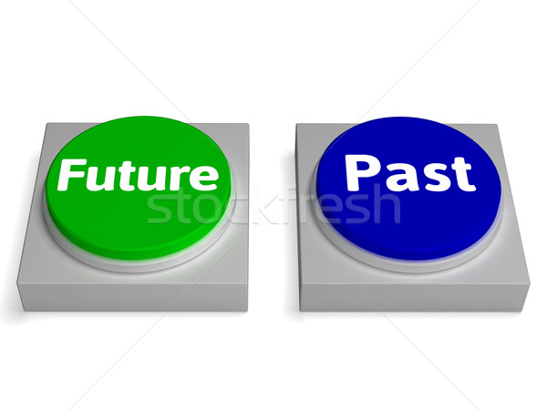 Przyszłości przeszłość przyciski los historii Zdjęcia stock © stuartmiles