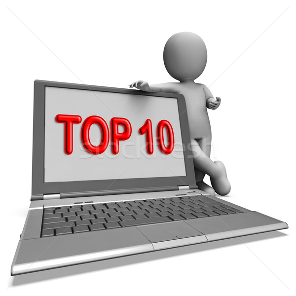Top Ten Laptop Shows Best Top Ranking Or Rating Stock photo © stuartmiles