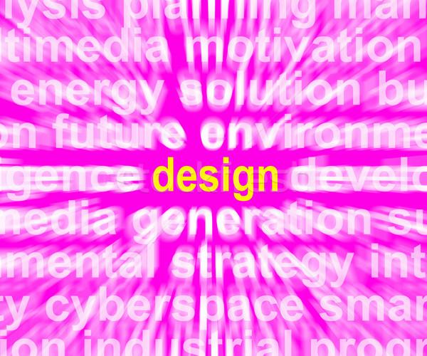 Stockfoto: Ontwerp · woord · innovatie · creativiteit · ontwikkelen · tonen