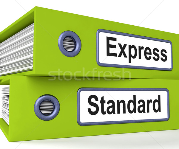 Express Standard Folders Mean Fast Or Regular Delivery Stock photo © stuartmiles