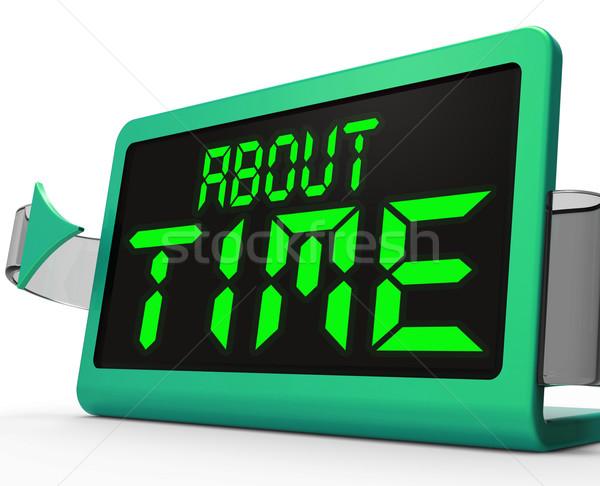 Zeit Uhr spät Stock foto © stuartmiles