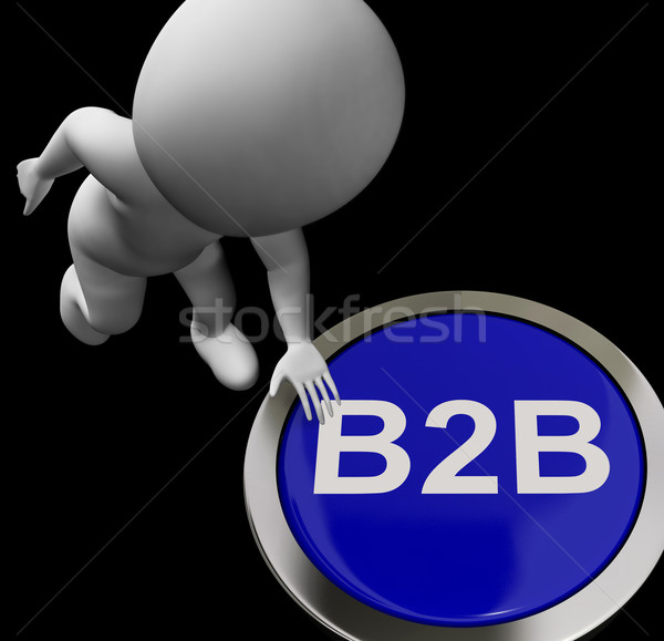 B2b knop business deal tonen Stockfoto © stuartmiles