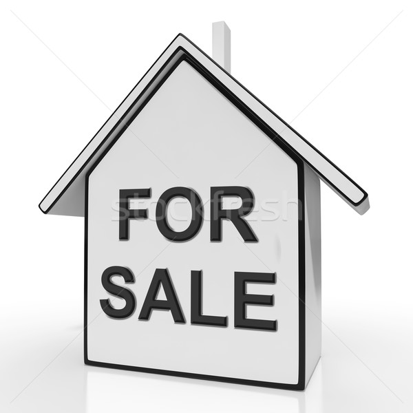 For Sale House Means Selling Or Auctioning Home Stock photo © stuartmiles