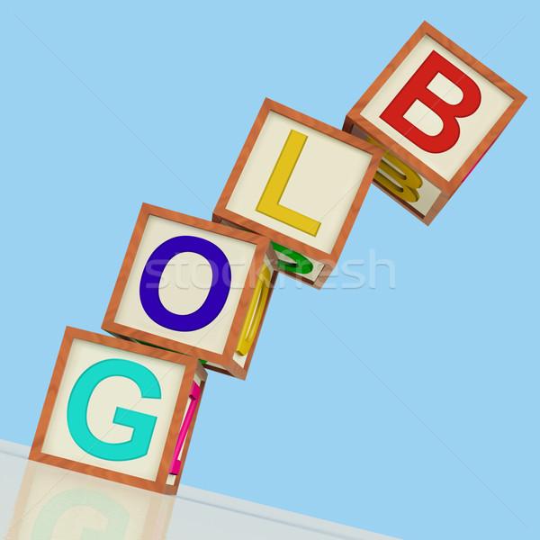 Blog blokken show blogger internet nis Stockfoto © stuartmiles