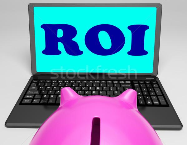 Roi laptop profitabilitás mutat háló online Stock fotó © stuartmiles