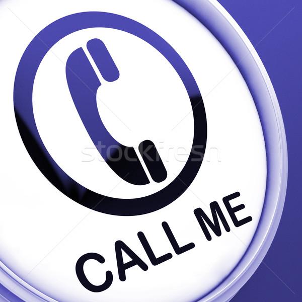 私を呼び出す ボタン 話 チャット 電話 ストックフォト © stuartmiles