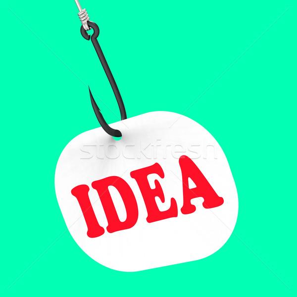 Idée crochet créativité imagination pense pense Photo stock © stuartmiles