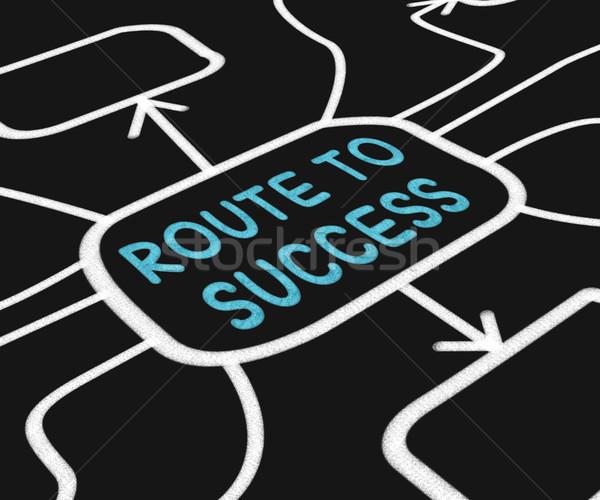 Route To Success Diagram Shows Path For Achievement Stock photo © stuartmiles