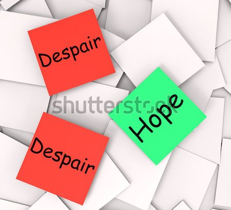 Yes No Post-It Notes Mean Positive Or Declining Stock photo © stuartmiles