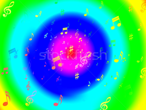 Musical Notes Background Means Artistic Composer And Musician Stock photo © stuartmiles
