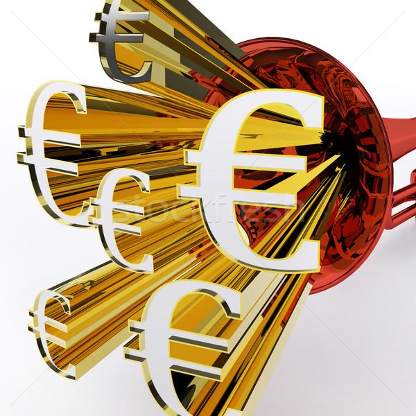 евро знак европейский банка валюта богатство Сток-фото © stuartmiles