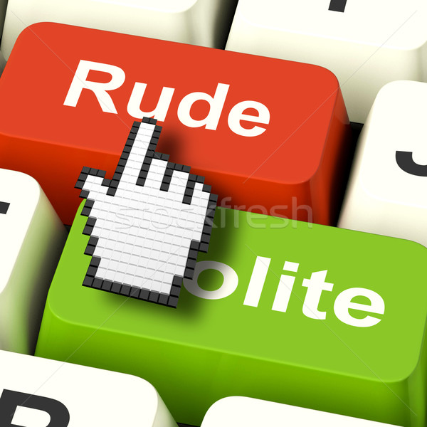 Rude Impolite Computer Means Insolence Bad Manners Stock photo © stuartmiles