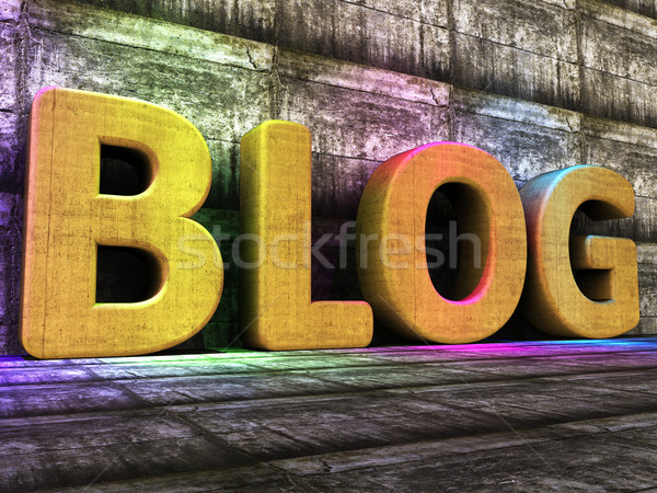Blog Tools Means World Wide Web And Blogger Stock photo © stuartmiles