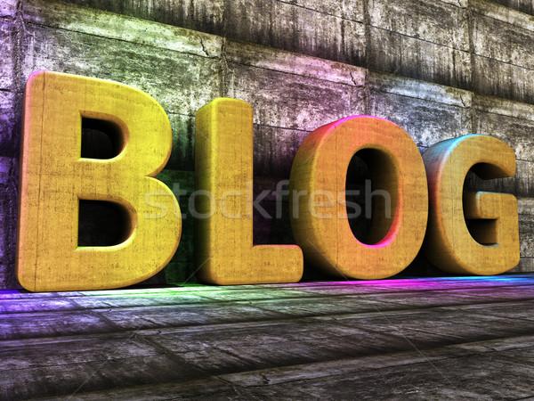 Блог инструменты всемирная паутина блоггер онлайн журнала Сток-фото © stuartmiles