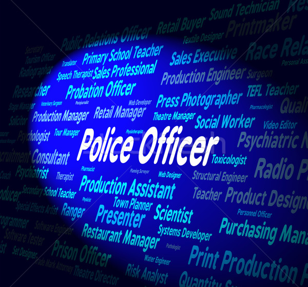 Police Officer Shows Law Enforcement And Administrator Stock photo © stuartmiles