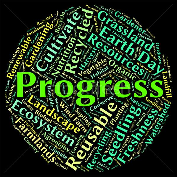 Progress Word Shows Development Improvement And Text Stock photo © stuartmiles