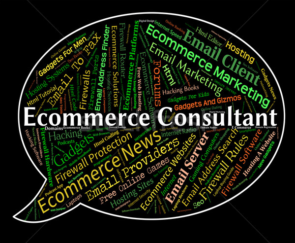 Ecommerce Consultant Shows Online Business And Advisers Stock photo © stuartmiles
