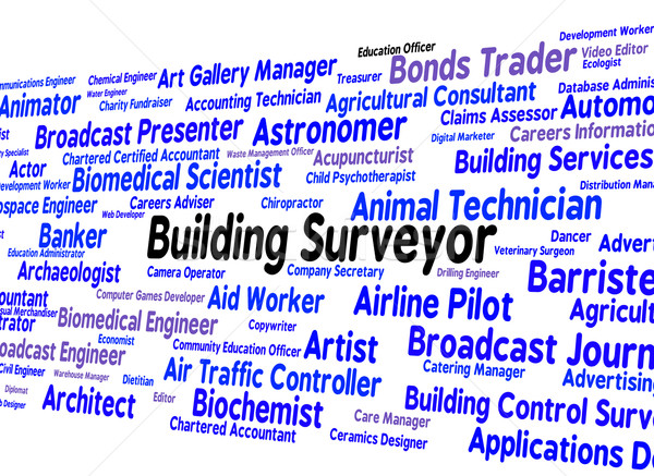 Building Surveyor Indicates Position Occupations And Hire Stock photo © stuartmiles