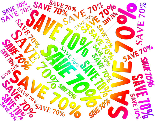 Save Seventy Percent Shows Offers Words And Promotion Stock photo © stuartmiles