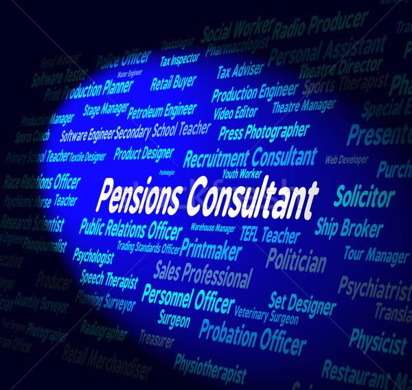 Tanácsadó alkalmazott szavak haszon karrier toborzás Stock fotó © stuartmiles
