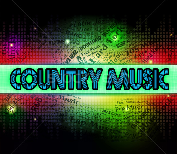 Country Music Means Sound Tracks And Acoustic Stock photo © stuartmiles