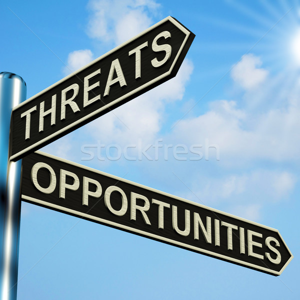 Threats Or Opportunities Directions On A Signpost Stock photo © stuartmiles