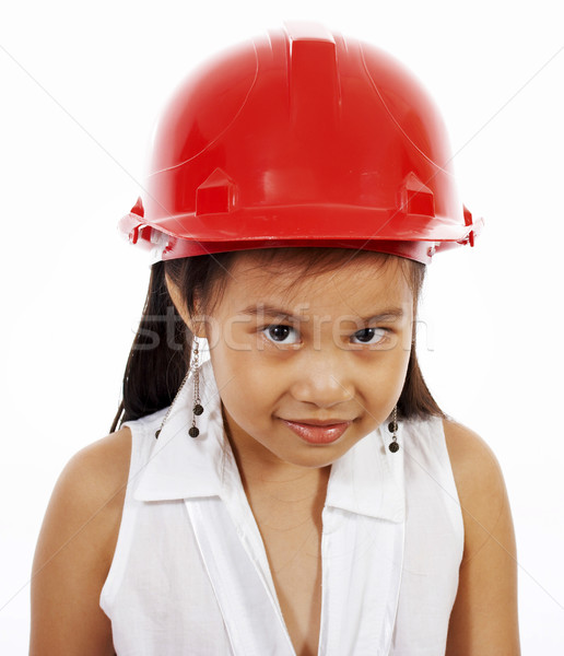 Girl Playing At Being An Engineer Stock photo © stuartmiles