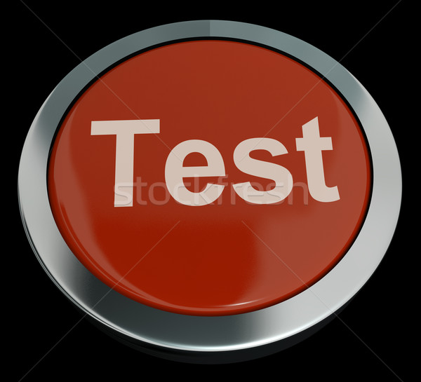 Test Button In Red Showing Quiz Or Online Questionnaire Stock photo © stuartmiles