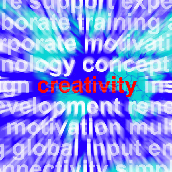 Creativity Word Representing Innovative Ideas And Imagination Stock photo © stuartmiles