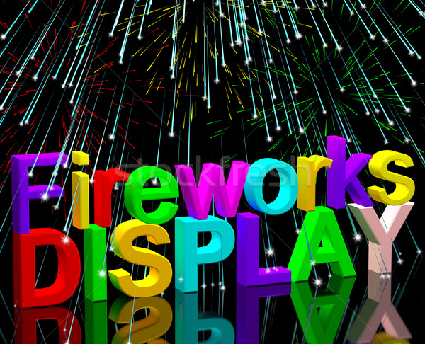 Exploding Fireworks Display For New Years Or Independence Celebr Stock photo © stuartmiles